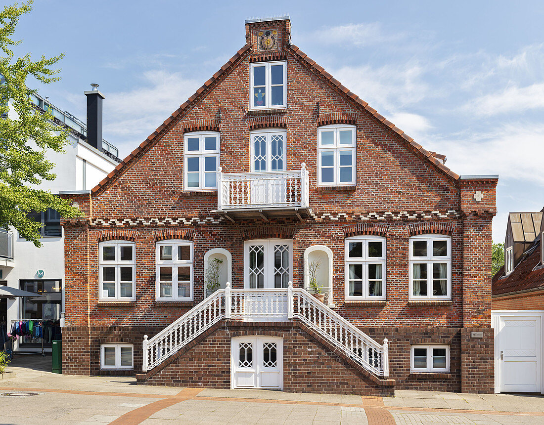 City villa, Wyk, Föhr, Scheswig-Holstein, Germany