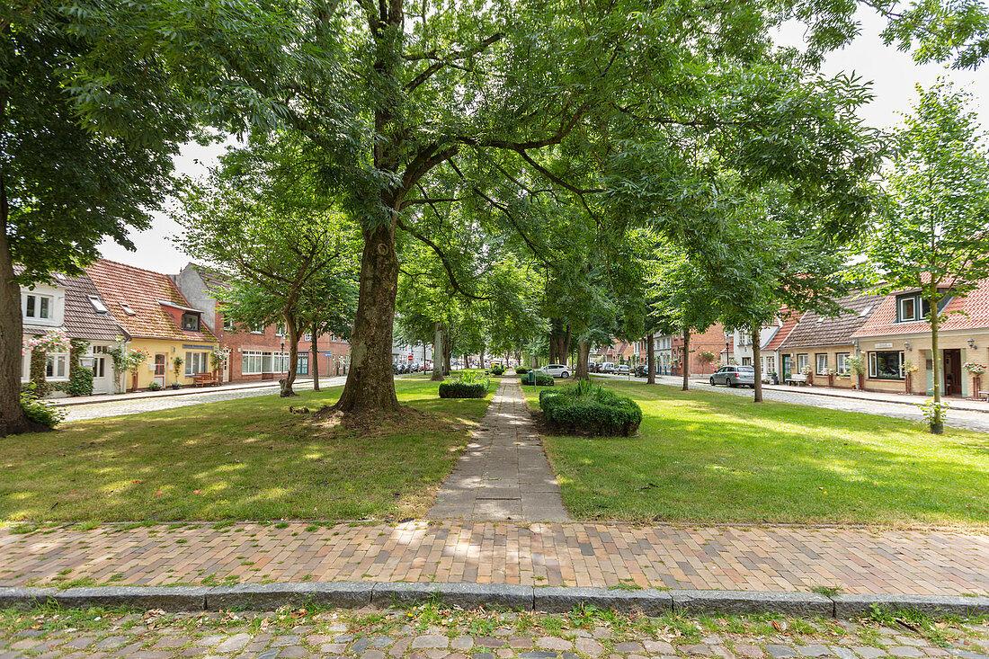 Am Stadtfeld in Friedrichstadt, Schleswig-Holstein, Germany