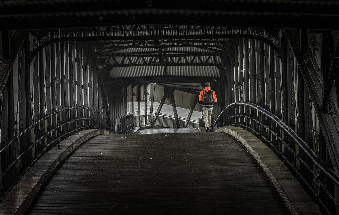 Überseebrücke im Hamburger Hafen, Hamburg, Deutschland