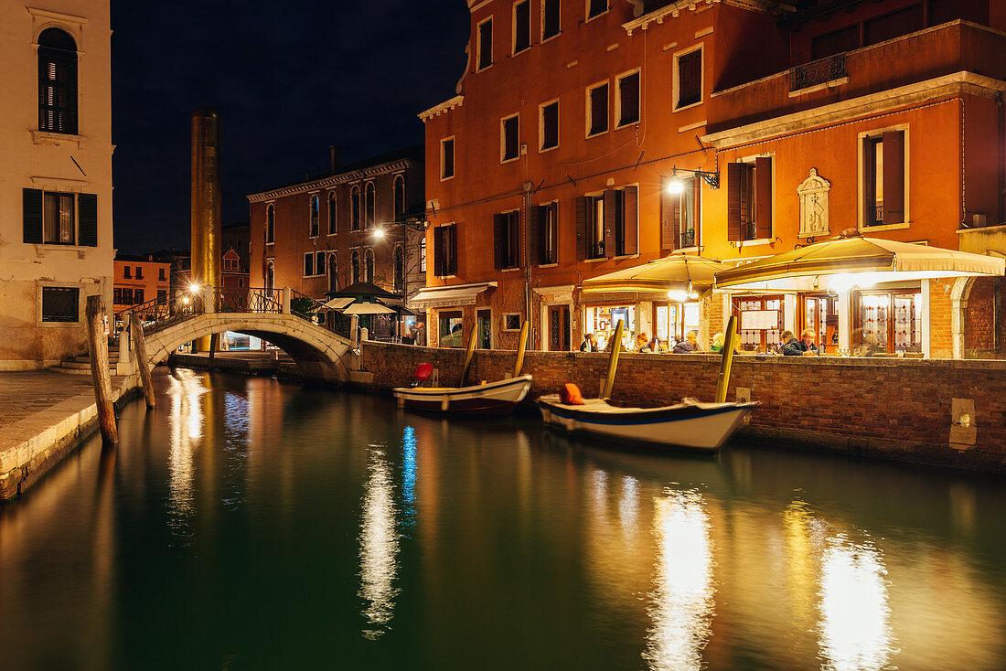 Night in Venice, Veneto, Italy, Europe