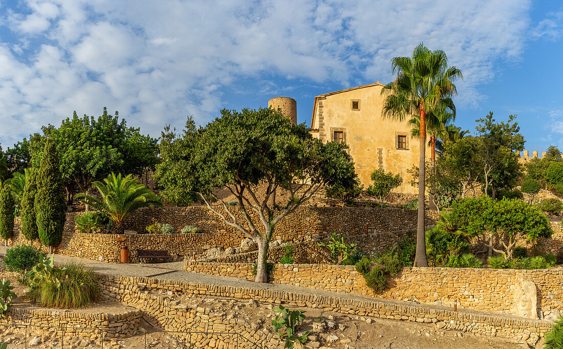 Inside the walls of Capdepera Castle, Mallorca, Balearic Islands, Spain, Europe