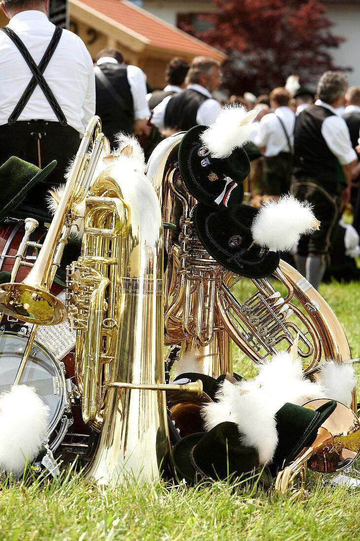 Bayerische Blasmusik und Brautum Mustikfest, Siegsdorf, Chiemgau, Bayern, Deutschland