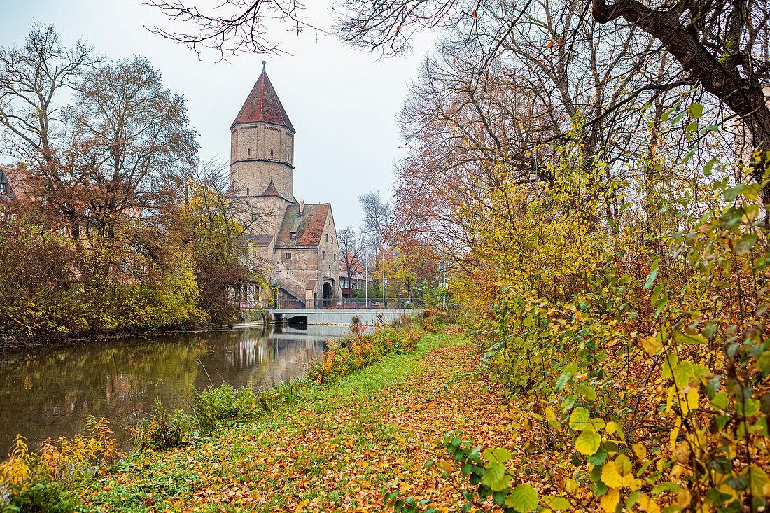 Jakobertor in Augsburg, Bavaria, Germany