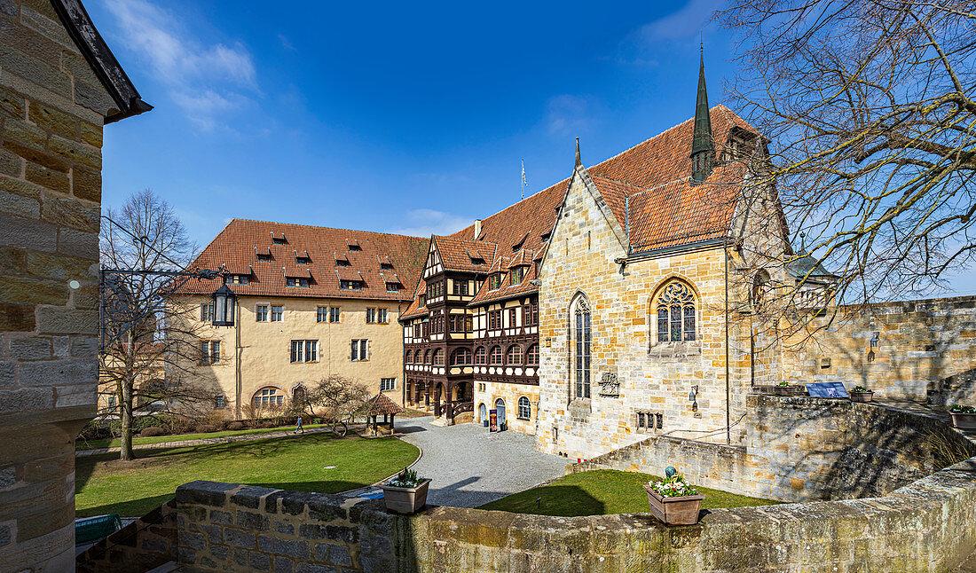 Fürstenbau in the inner courtyard of Veste Coburg, Coburg, Upper Franconia, Bavaria, Germany
