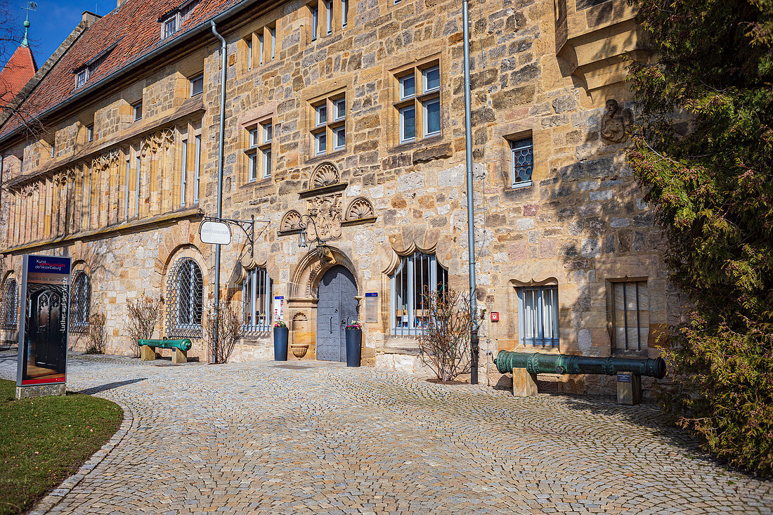 Art collections in the Carl-Eduard-Bau in the outer courtyard of Veste Coburg, Coburg, Upper Franconia, Bavaria, Germany
