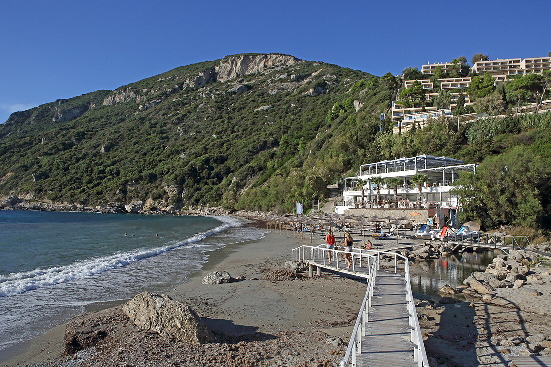 Hotel Grand Mediterraneo Resort south of the village of Pelekas on the west coast of the island of Corfu, Ionian Islands, Greece