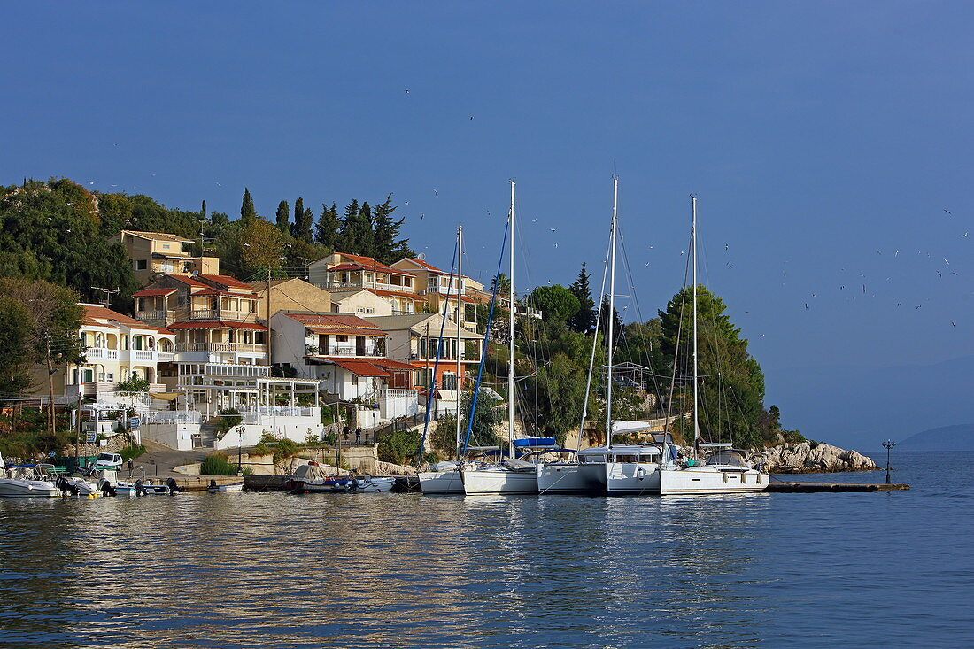 Kassiopi harbor bay, Corfu island, Ionian islands, Greece