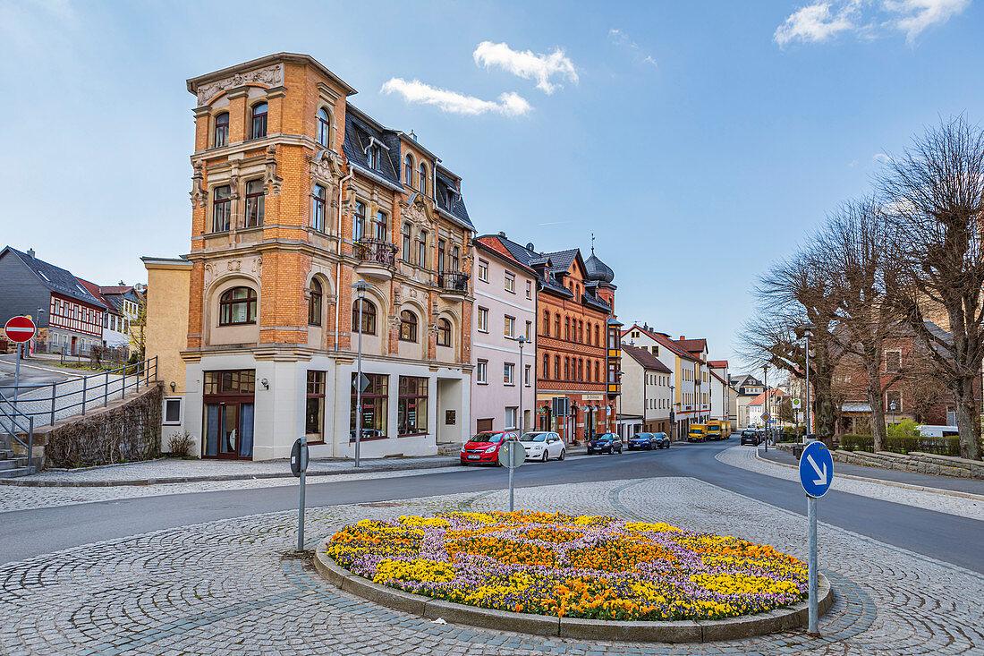 Unterer Markt in Sonneberg, Thüringen, Deutschland