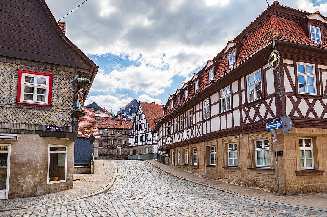 Klosterstraße in Kronach, Bayern, Deutschland