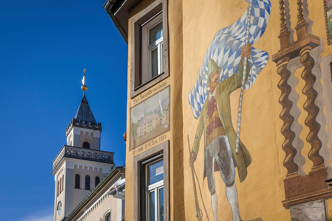 Town hall of Bad Reichenhall, Upper Bavaria, Bavaria, Germany
