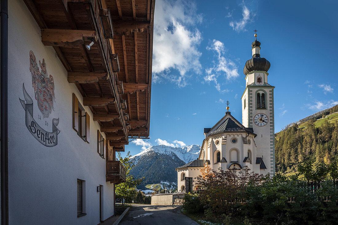 Pfarrkirche St. Martin in Innervillgraten, Villgratental, Osttirol, Tirol, Österreich
