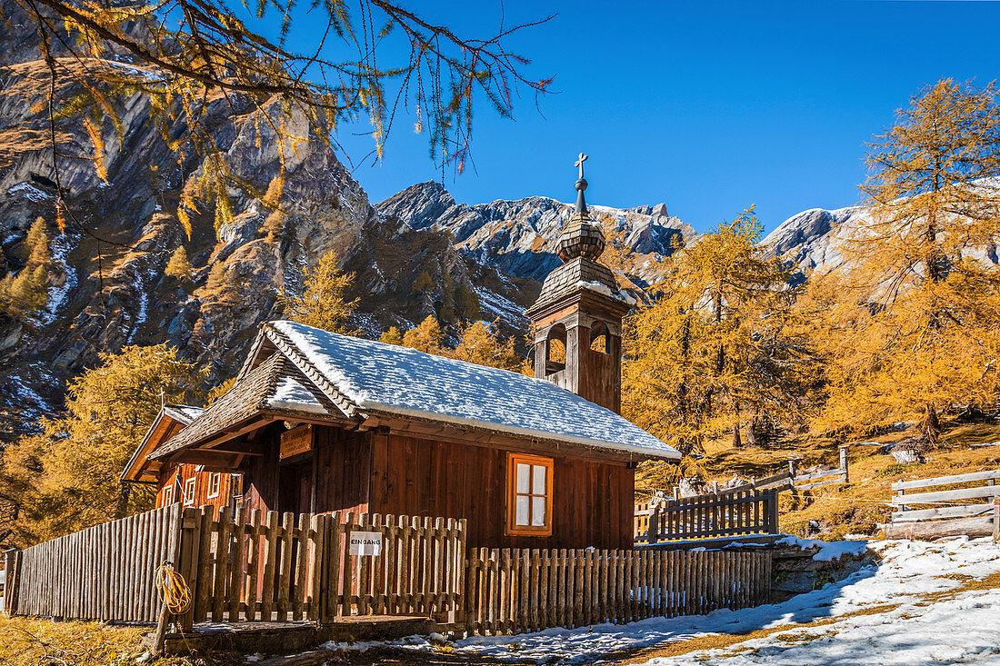 Herz Jesu-Kapelle auf der Jörgnalm im Ködnitztal, Kals am Großglockner, Osttirol, Tirol, Österreich