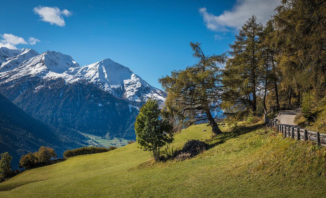 Blick vom Zedlacher Paradies ins Virgental, Osttirol, Tirol, Österreich