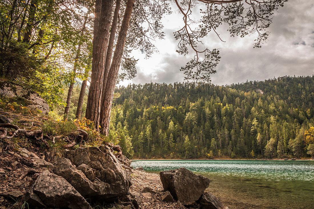 Blindsee am Fernpass, Biberwier, Tirol, Österreich