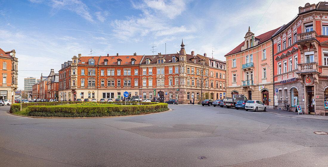 Lorleberg Platz in Erlangen, Middle Franconia, Bavaria, Germany