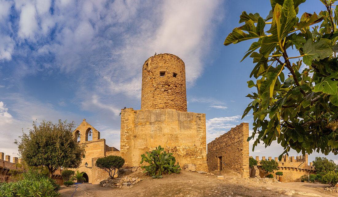 Inside the walls of Capdepera Castle, Mallorca, Balearic Islands, Spain, Europe