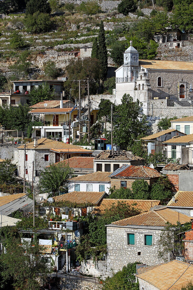 Ort Exanthia, Insel Lefkada, Ionische Inseln, Griechenland