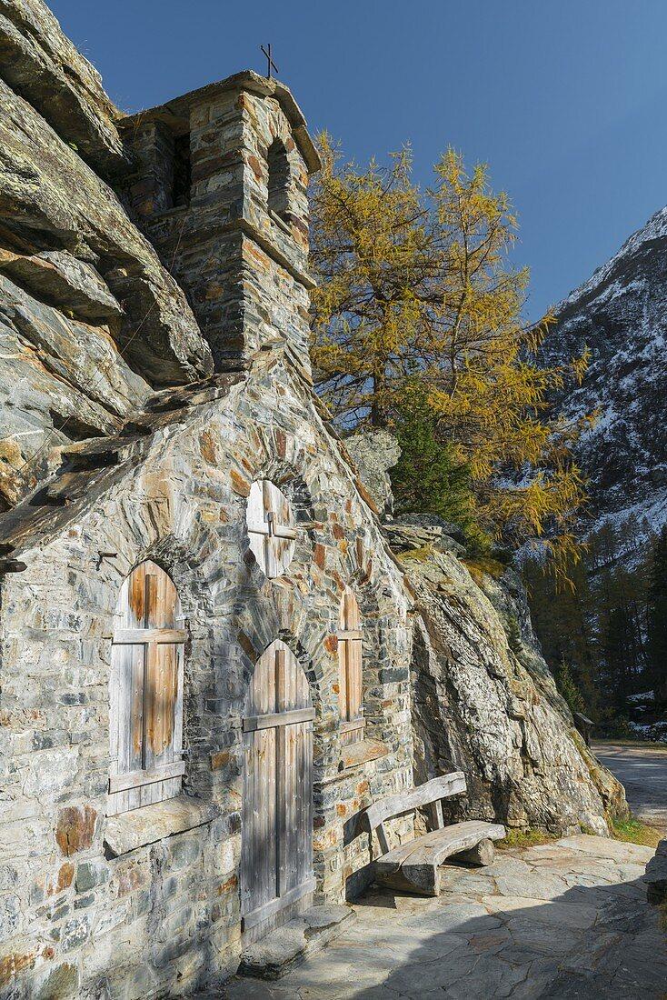 Felsenkapelle, Innergschlöss, East Tyrol, Tyrol, Austria