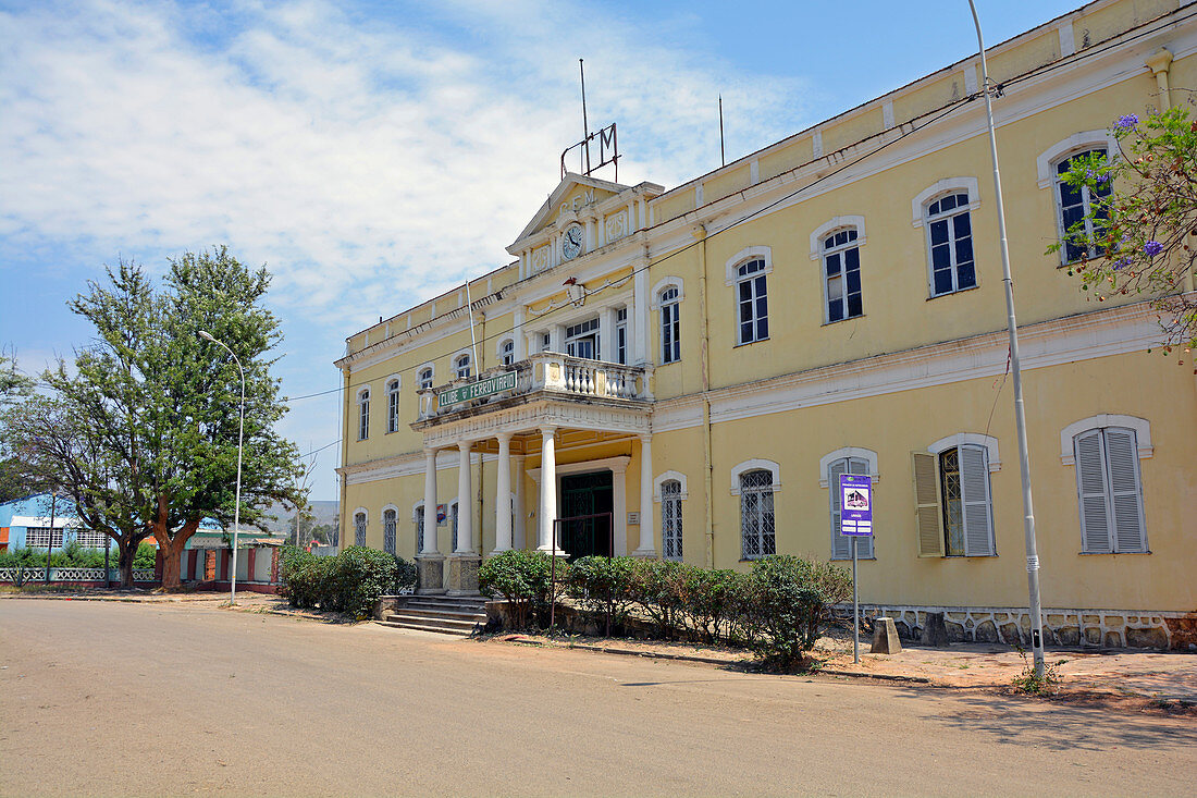 Angola; Huila Province; Lubango; historical station building; Built in 1905; now houses the Railway Club