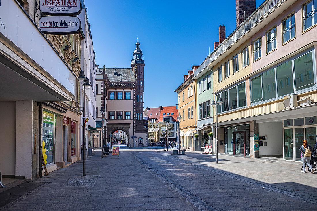 Rückertstraße in Schweinfurt, Bayern, Deutschland