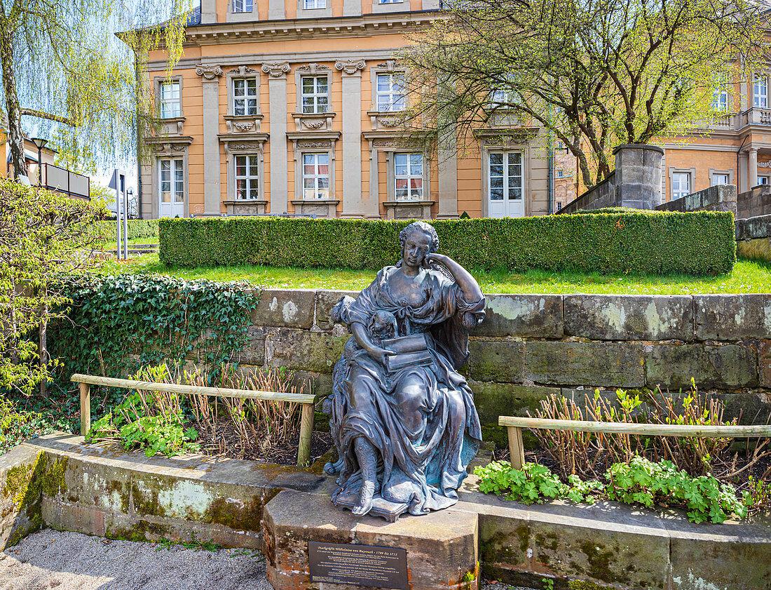 Wilhelmine von Bayreuth-Staue in Bayreuth, Bavaria, Germany