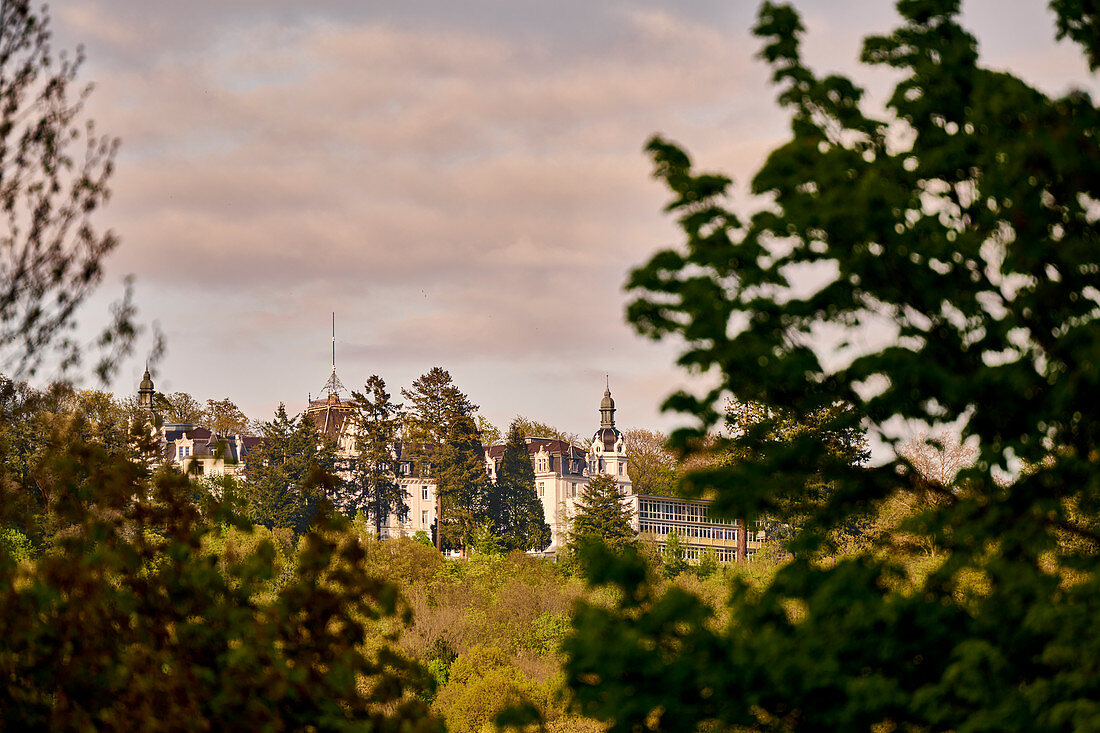 View of the former Hohenhonnef Lung Clinic in Bad Honnef, North Rhine-Westphalia, Germany