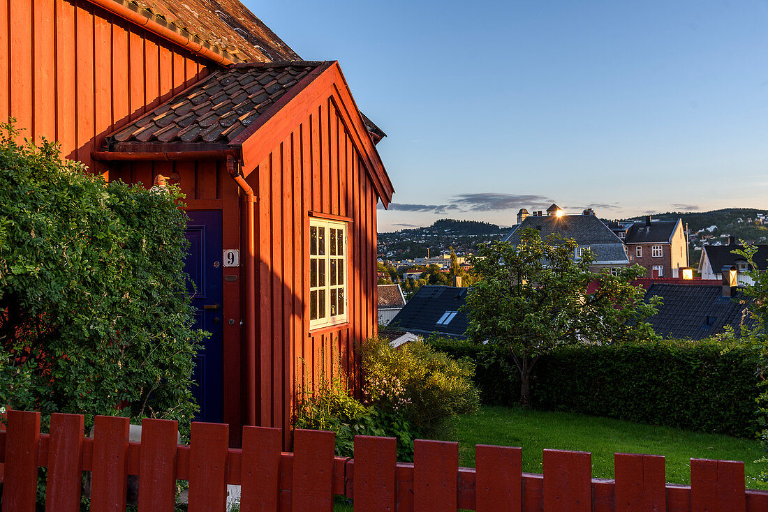 old wooden house in Trondheim, Norway
