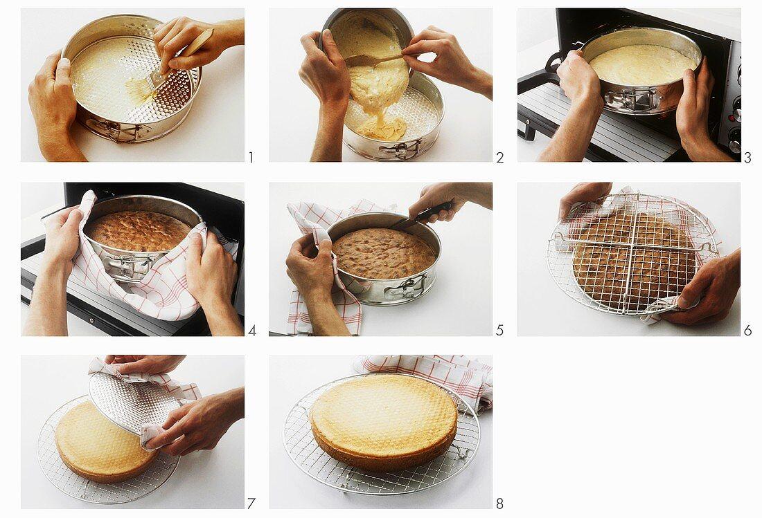 Making fatless sponge cake - part 2