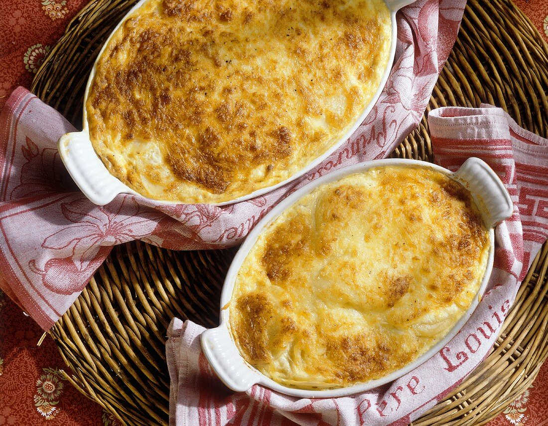 Pommes Dauphinoises in an Ovenproof Dish
