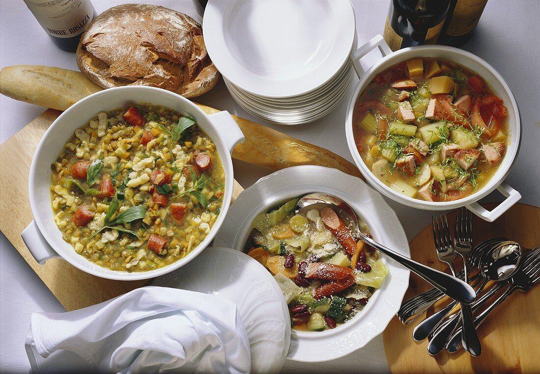 Three Vegetable Stews