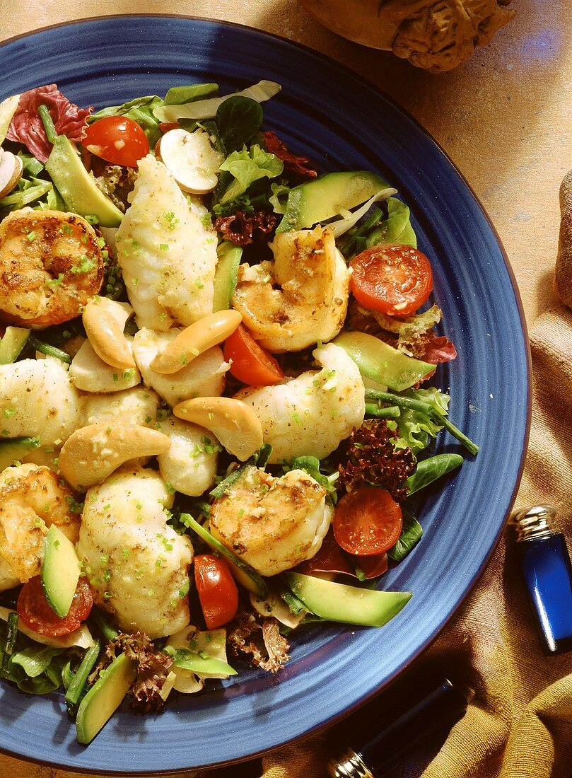 Fancy Fish Salad with Scallops