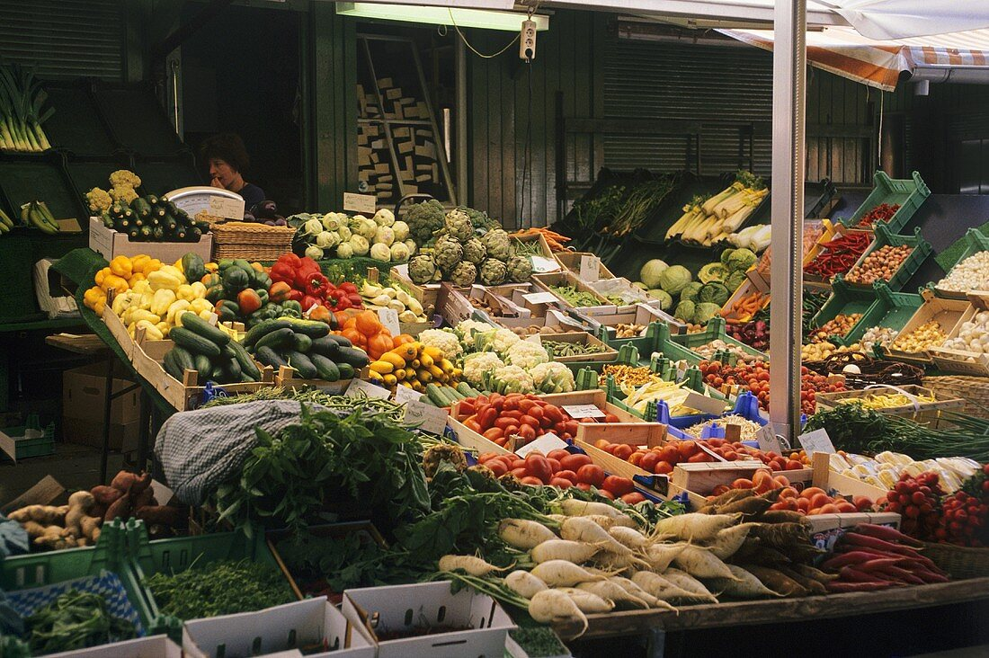 Vegetable Stall at the Viktualienmarkt