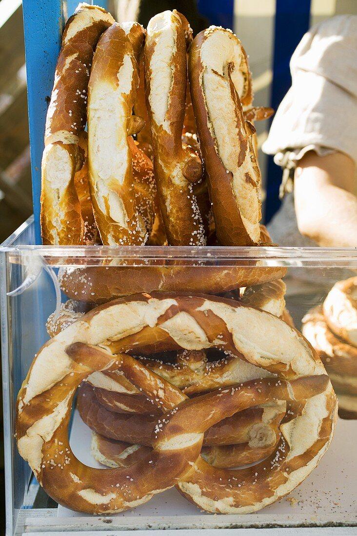 Giant pretzels at Oktoberfest in Munich