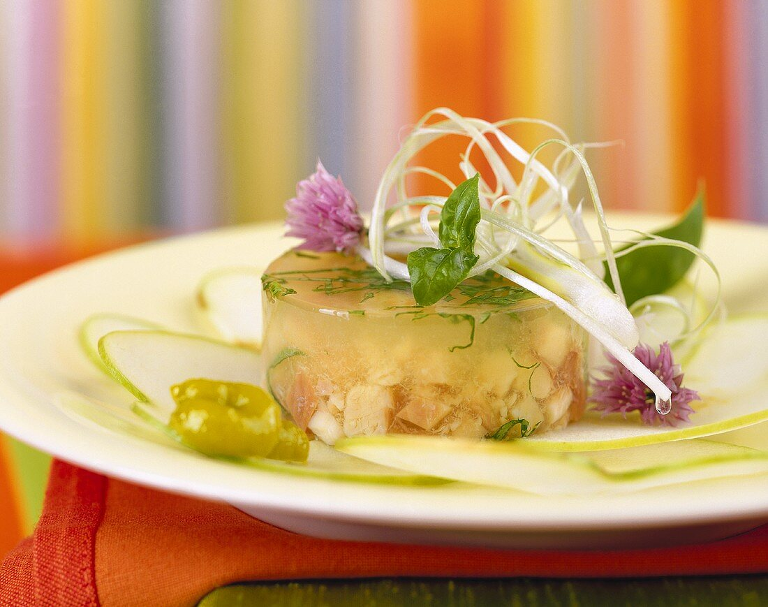 Smoked brook trout in jelly