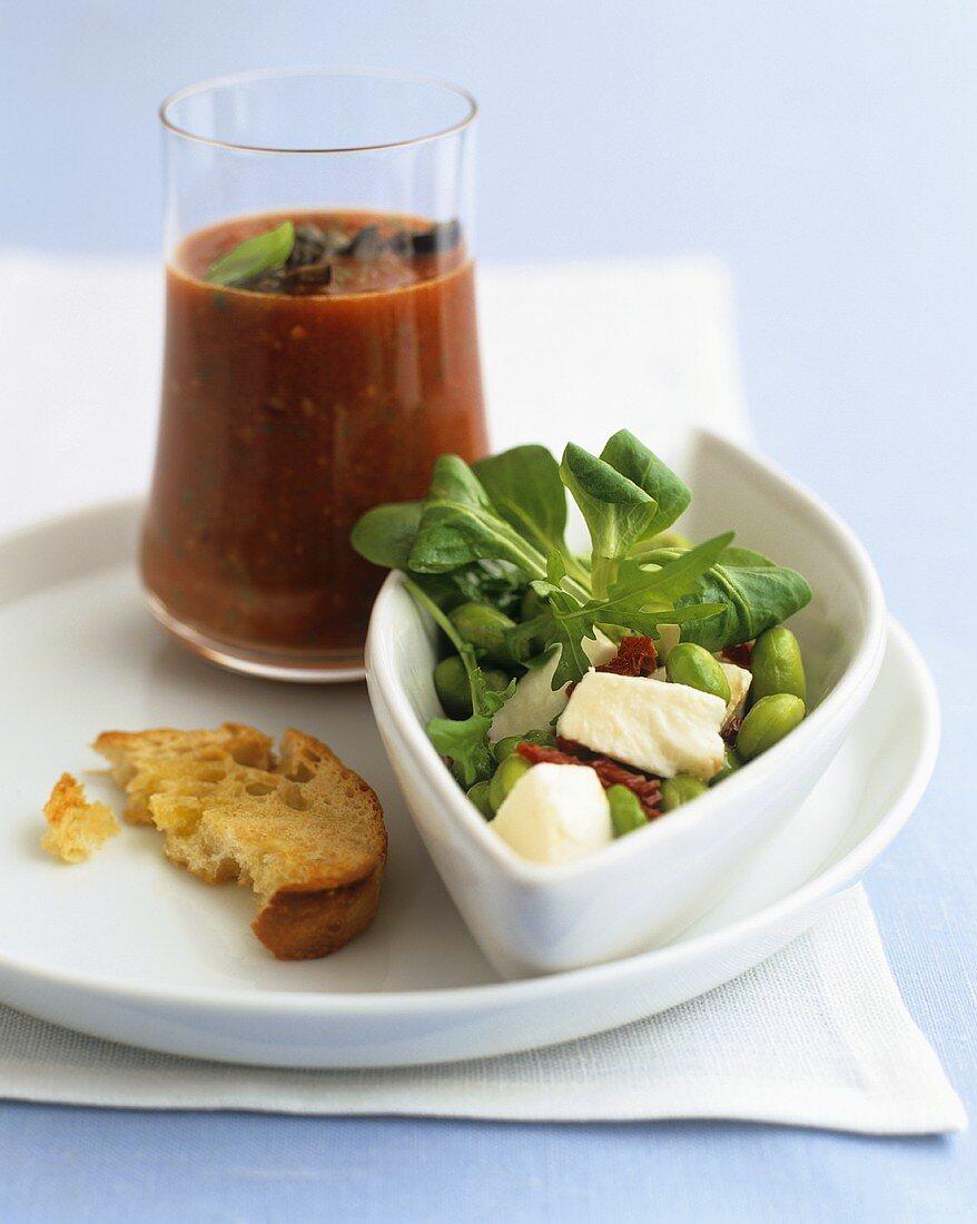 Acquacotta e Insalata con le fave (Brotsuppe & Bohnensalat)