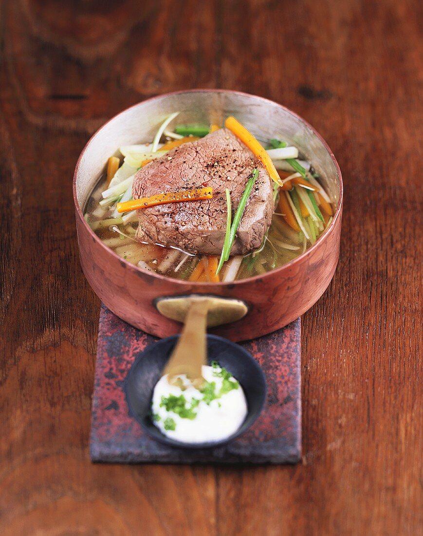 Beef fillet 'à la Tafelspitz'