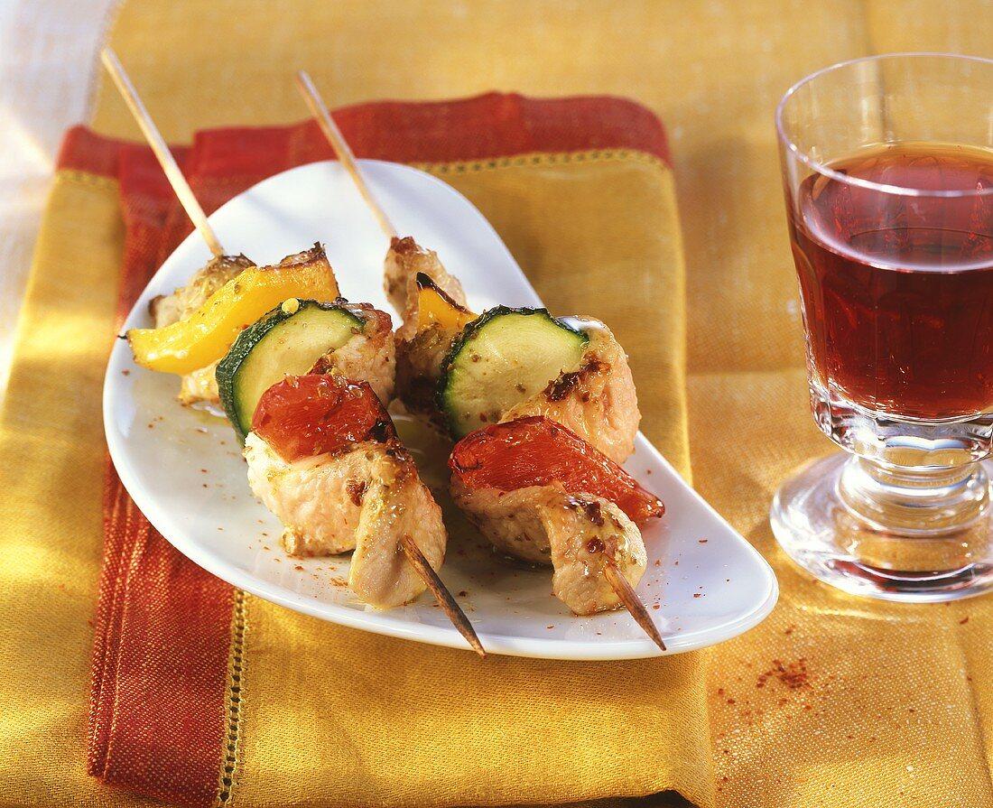 Moorish meat kebabs