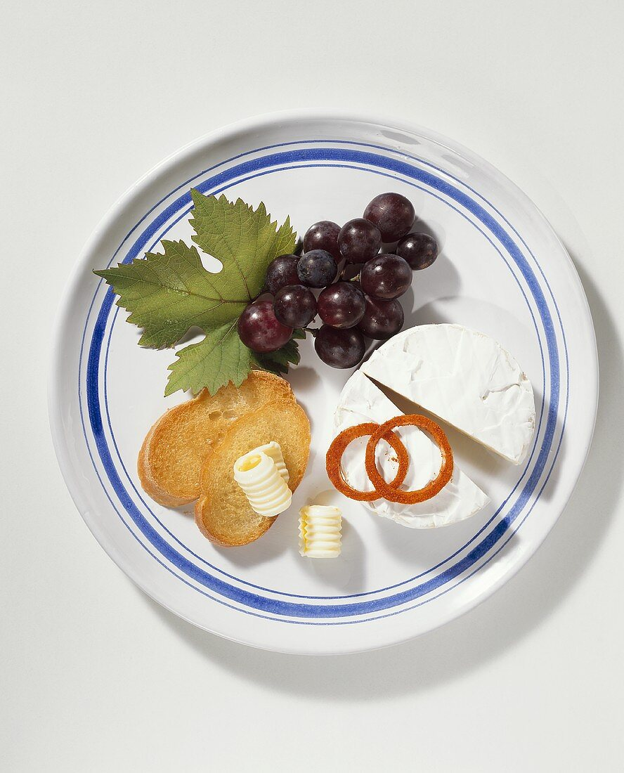 Cheese plate with Camembert