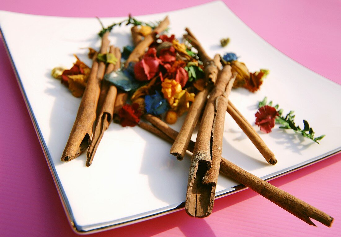 Potpourri of dried flowers