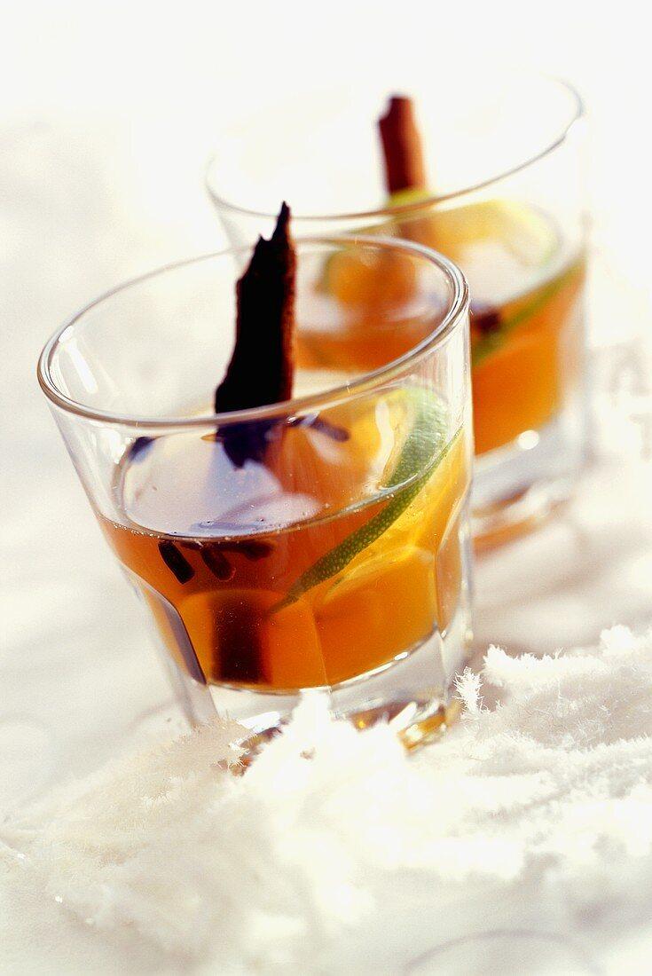 Krupnik (honey liqueur) with cinnamon