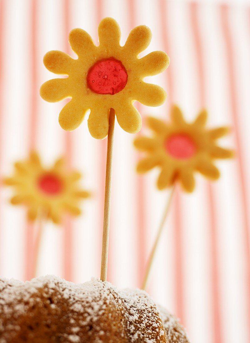 Flower cookies (biscuits with sugar windows)
