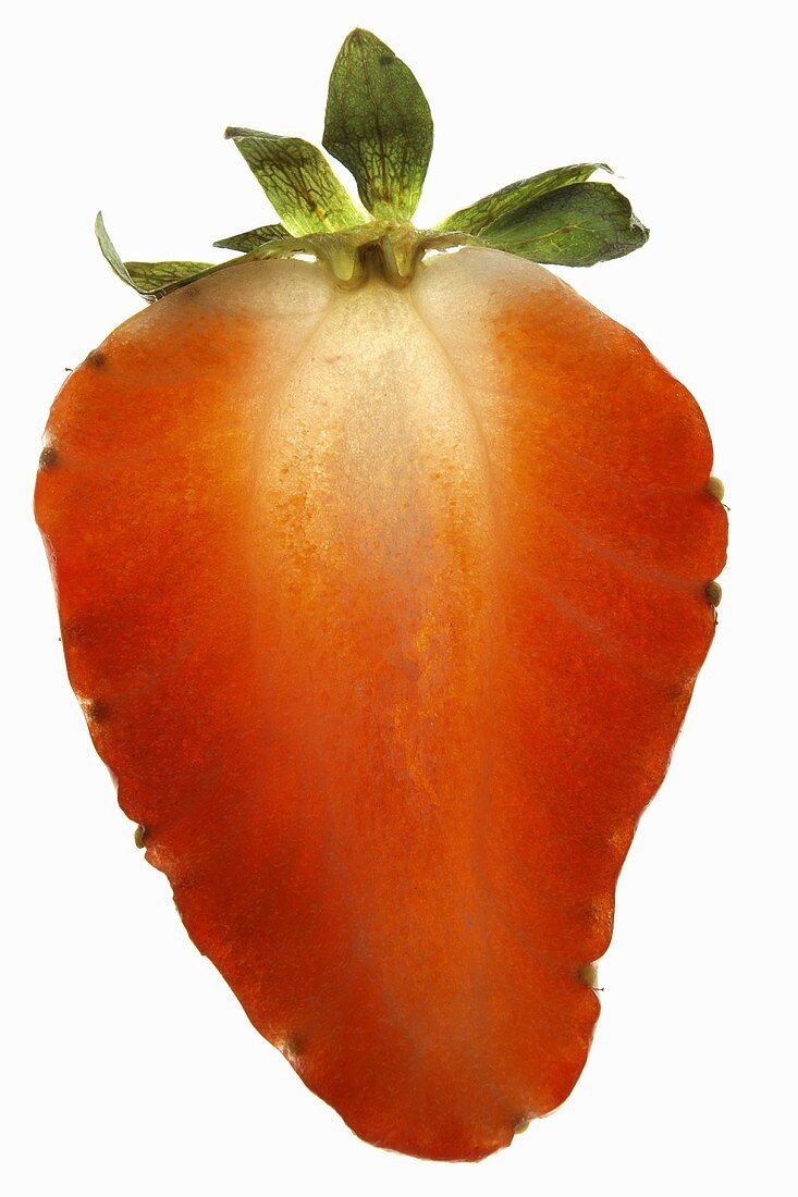 A slice of strawberry