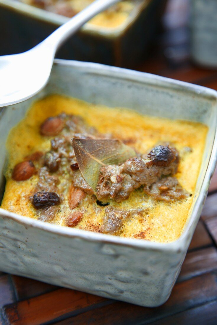 Bobotie (Spicy beef dish, Namibia, Africa)