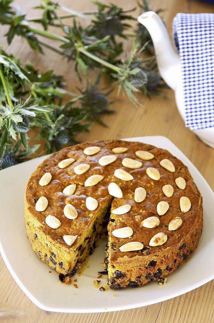 Dundee cake (Scottish fruit cake)