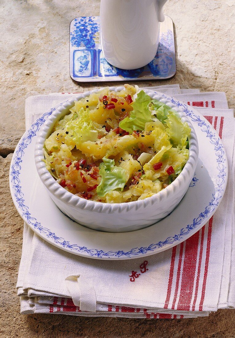 Potato and endive Stamppot (stew, Holland)