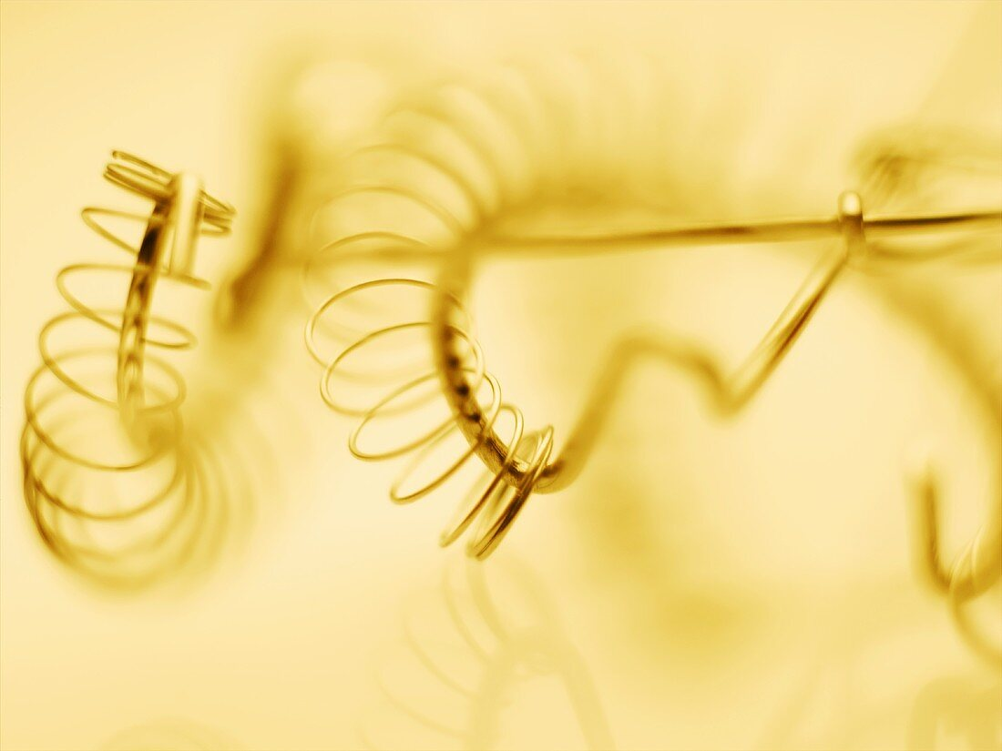 Several spiral whisks