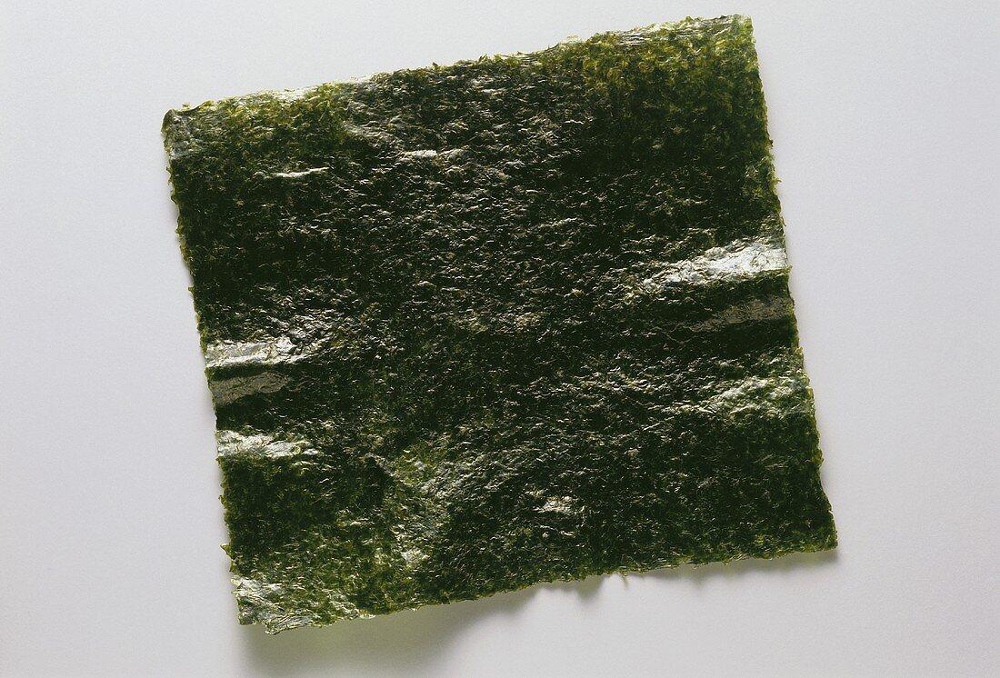Nori sheet (pressed, dried, roasted seaweed)
