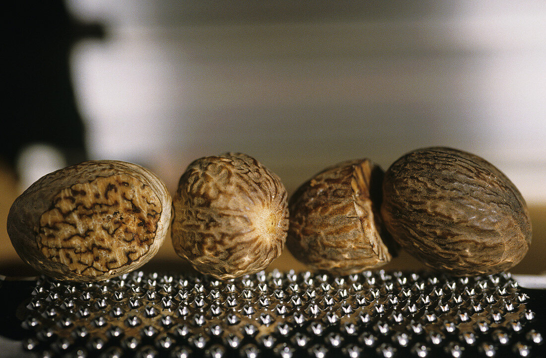 Nutmegs on a grater