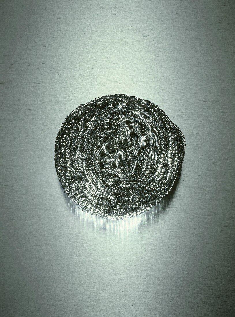 Pan scrubber (Stainless steel scourer)