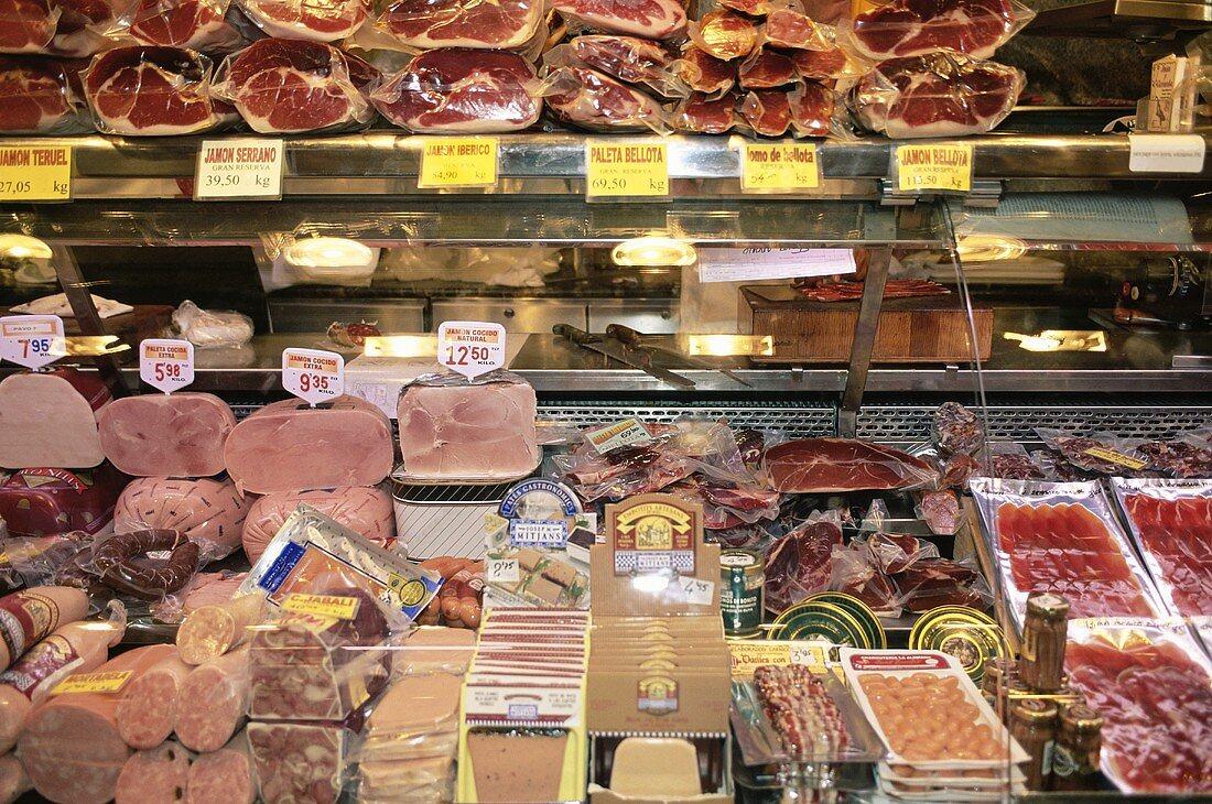 A delicatessen market in Barcelona